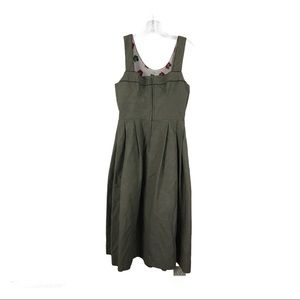 Vintage Hasegg Overall Olive Green Dress Size 40